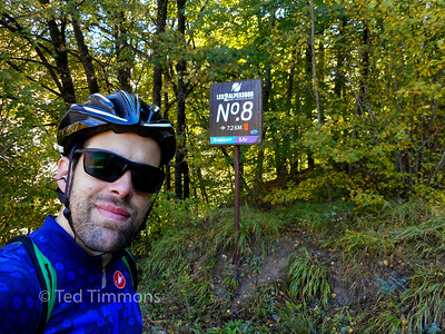 One of the markers on Duex Alpes. I took a picture because I ride a Giant and my favorite bike shop sells the Liv line.