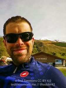 Selfie at the top of Deux Alpes.