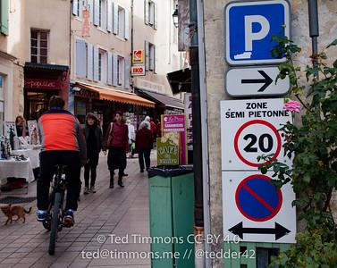 pedestrian zone in Nyons