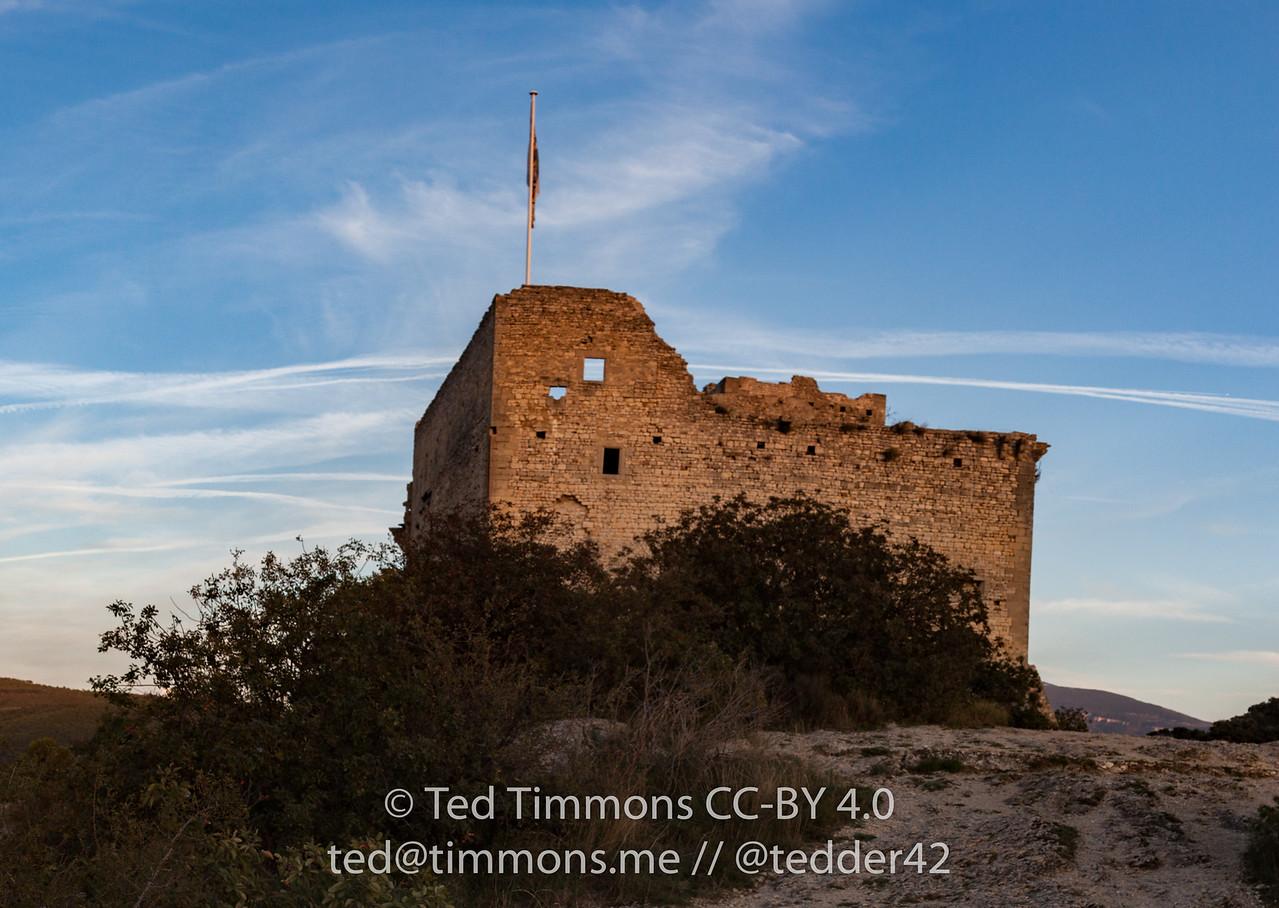 Castle built for Count of Toulouse in Vaison-la-Romaine