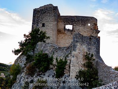 Mideival era castle in Vaison-la-Romaine