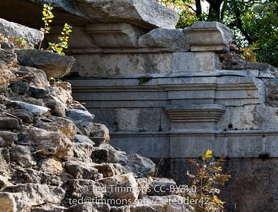 Roman ruins of the amphitheater in Vaison-la-Romaine