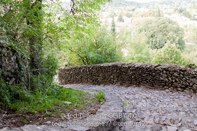 pathway in Vaison-la-Romaine; cobblestones everywhere