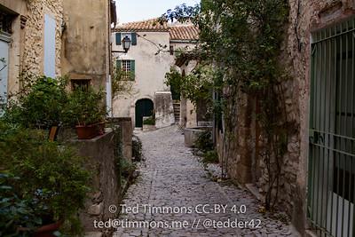 "Cobblestone ""roads"" in old section of Seguret"