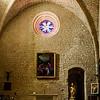 Interior of church in Crestet