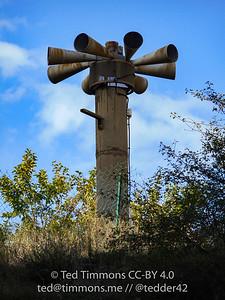 Old air raid sirens in Bedoin.