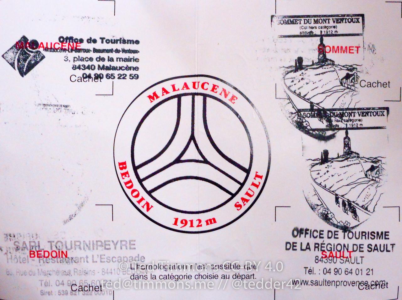 My club carnet, stamp side.