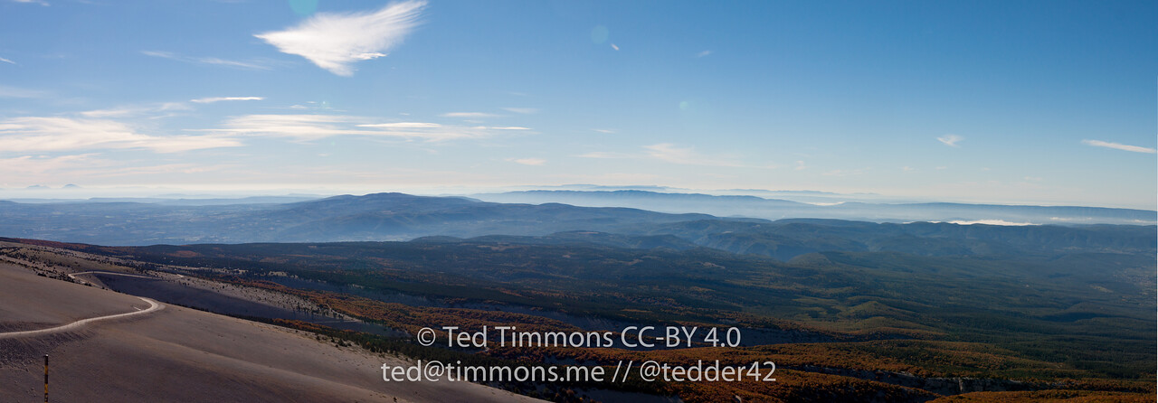 View from Mt Ventoux