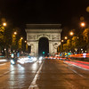After dinner we wandered back over to Champs-Élysées.  Shooting up to the Arc de Triompe from the street's center line.