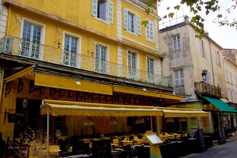 """Cafe in Van Gough's """"Stary Night,"""" Arles"""