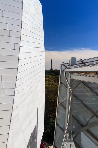A View of the Eiffel Tower from Fondation Louis Vuitton