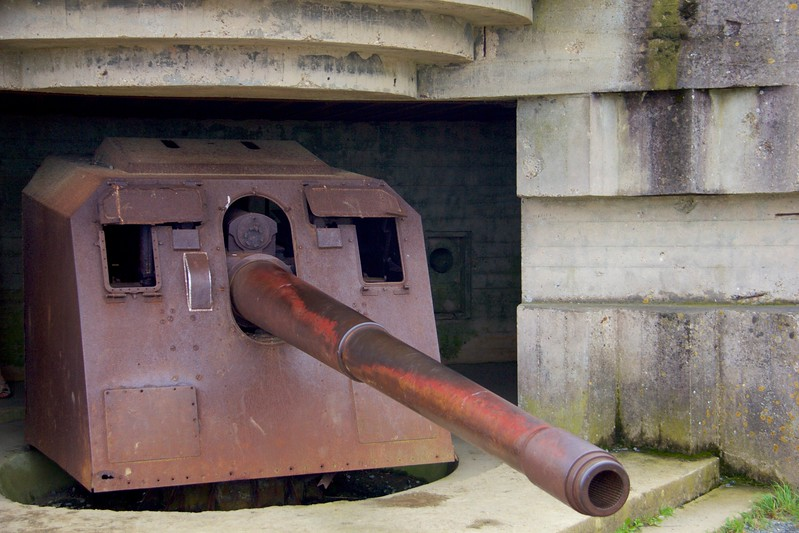 German Gun, Normandy Beach