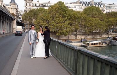 This bridge always has a wedding photographer on it