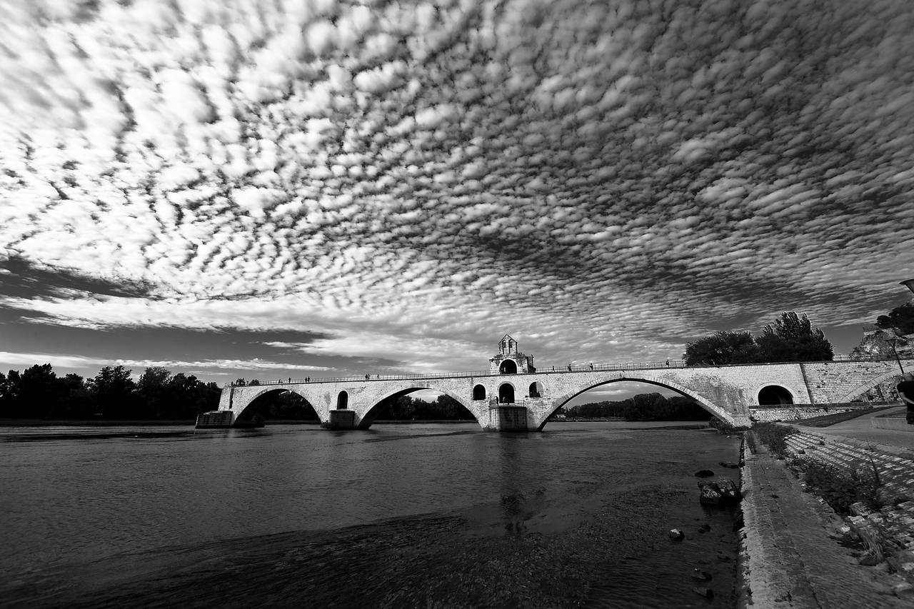 A portion of the original 12th-century St. Benezet bridge in Avignon. I'll bet if it'd been built by Romans it would still be intact.