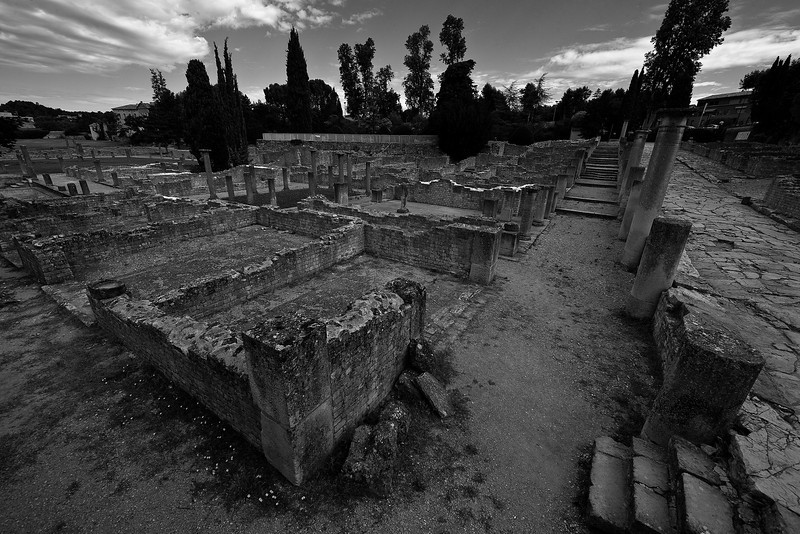 This is the Roman half of Vaison la Romaine. Unfortunately this site, like so many of this nature, has opening hours which do not correspond with the time of day best suited for good photographic light. But it was still pretty amazing to walk through the ruins.