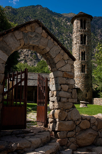 I drove through the principality of Andorra on the way to Lyon, France. This is the pre-Romanesque church of Santa Coloma. Andorra is a tax haven; I saved about $30 on a tank of gas.