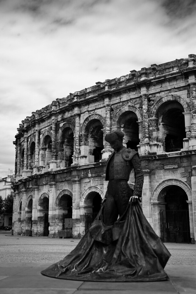 Another of my un-touristy intended destinations. Nîmes, France is home to the most well-preserved of all colosseums, yet there aren't a lot of people around.
