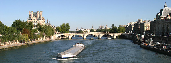 View east from the Passerelle de Solférino.