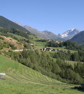 Returning to Switzerland, descending the Great St. Bernard Pass again.