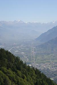 Martigny, Switzerland, from the Col de la Forclaz