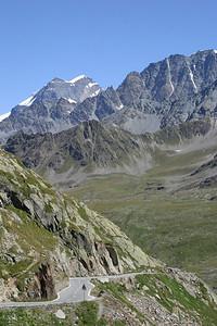 Ascending the Great St. Bernard Pass, on the Swiss side.