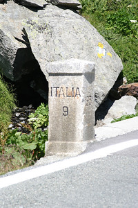 Border marker at the Great St. Bernard Pass.