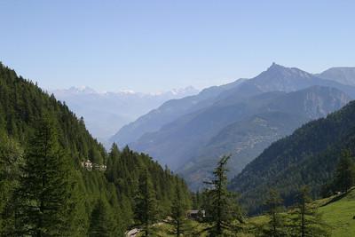 View from the Col de la Forclaz