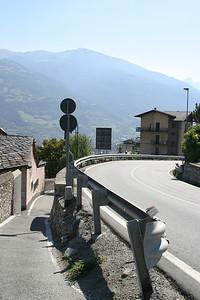 Entering Aosta