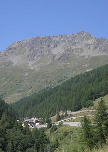 Descending the Great St. Bernard Pass into Italy.