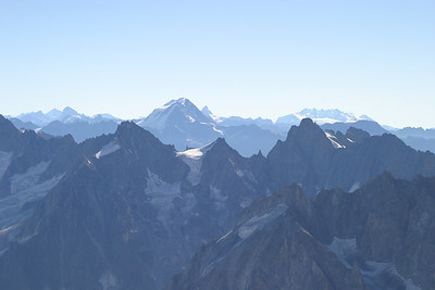 Grand Combin and Monte Rosa from the Aiguille du Midi