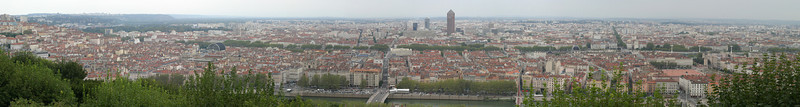 View of Lyon from Fourvière