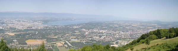 View of Geneva and Lake Geneva from Salève.