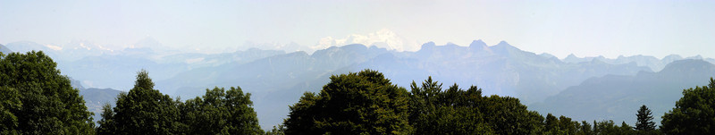 Mont Blanc from Salève.