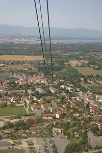Descending in the gondola from Salève.