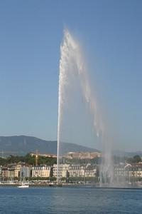 The Jet d'Eau in Geneva