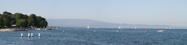 View of Lake Geneva from the Right Bank in the city of Geneva