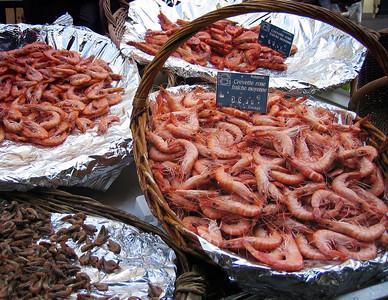 Seafood market, Rue Cler