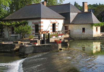 Mill on the Indre River, Azay-le-Rideau, France
