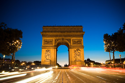 Arc de Triomphe from the Champs Elysees
