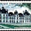 1954 stamp depicting Cheverny.