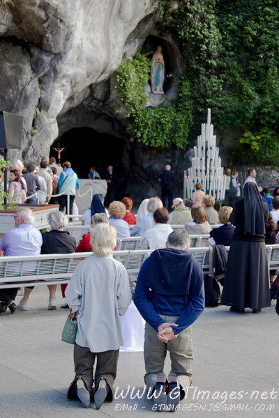 Lourdes - Grotto. Many faithful visit for many different reasons. A very powerful place.