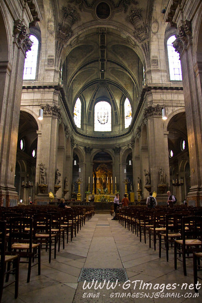 "Paris - Church of Saint Sulpice. This church is part of the Divinci Code story, where Silas goes to the church where the ""rose line"" runs under the orb."