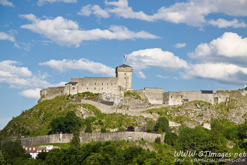 The château fort de Lourdes is a historic castle located in Lourdes. It is strategically placed at the entrance to the seven valleys of the Lavedan. It has been listed since 1933 as a monument historique by the French Ministry of Culture.