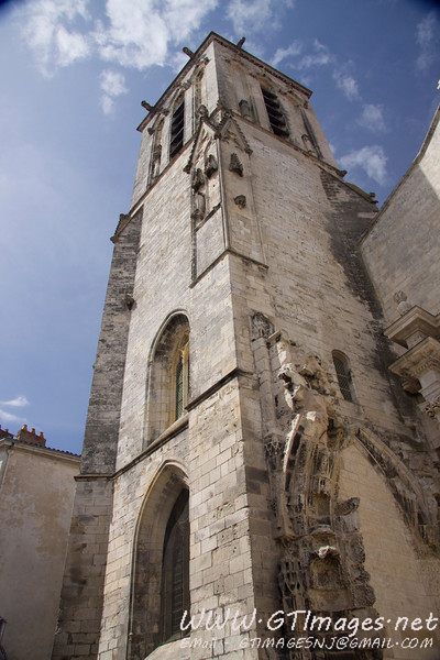 La Rochelle - Remains of a cathedral brought down by fire in one of the cities religious conflicts.