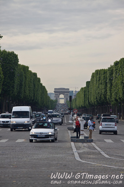 Paris - The Champs Elysees is the most famous avenue in Paris, stretching from the Arc de Triomphe to the Place de la Concorde.