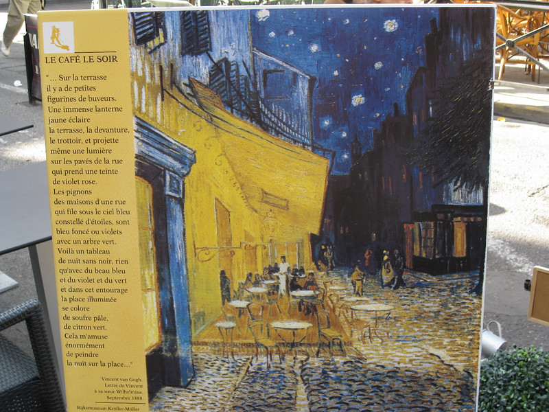 The Cafe Terrace on the Place du Forum, Arles, at Night, 1888 by Van Gogh
