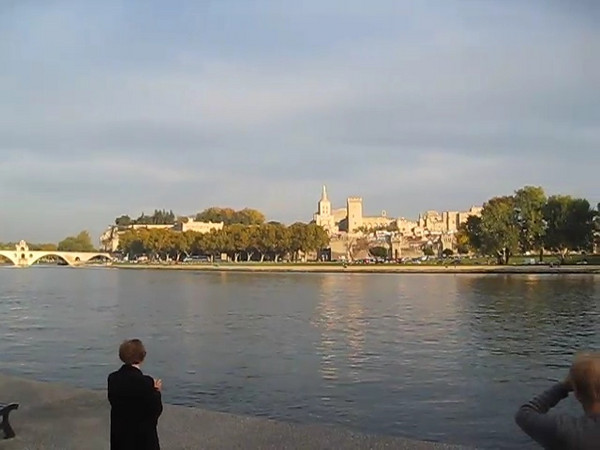 View Avignon from across the Rhone River