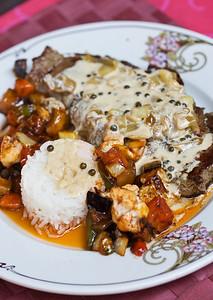 Delicious French cuisine / Oivaline prantsuse köök ühes restoranis Cordes sur Ciel´is