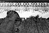 Lace framed medieval walls, Carcassonne, France
