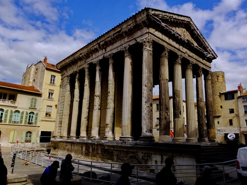 The Temple of Augustus and Livia is a very well preserved Roman temple in Vienne.
